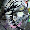 Bildstein | Glatz, <i>Oh no! (Eine Stadt in Panik)</i>, 2012, Öl, Acryl, Lack und Phosphor auf Holz, 105 x 142,5 cm