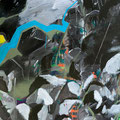 Bildstein | Glatz, <i>Oh no! (Nowhere)</i>, 2012, Öl, Acryl, Lack und Phosphor auf Holz, 105 x 142,5 cm
