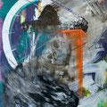 Bildstein | Glatz, <i>Oh no! (Das größte Abenteuer der Menschheit)</i>, 2012, Öl, Acryl, Lack und Phosphor auf Holz, 105 x 142,5 cm