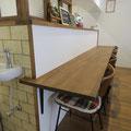 カフェコーナーのカウンター