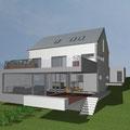Extension d'une maison unifamiliale à Winseler_ Façade arrière sud