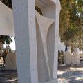Samson, lime stone, cm 210 x 60 x 120, Ashkelon, Israel
