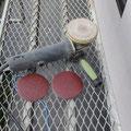 変速ディスクサンダー、#40サンドペーパで破風板等の塗装剥離に有効