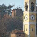 Il campanile della chiesa parrocchiale di San Colombano abate