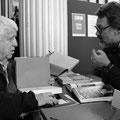 Guy Le Querrec en grande conversation avec Eric Lefeuvre © Eric Delamarre