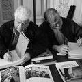 Guy Le Querrec et Charlie Abad au boulot © Eric Delamarre