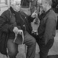 Guy Le Querrec et Jacques Sierpinski en grande conversation © Charlie Abad