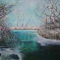 Winter 100 x 140 cm Acryl auf Leinwand