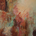 Lichtblick I - 31x25 cm - Rost,Kupfer,Acryl auf Leinwand