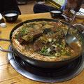 カムジャタン 豚のあばら骨の周りのお肉をかなり柔らかく煮ていろんな野菜が入ったお鍋!マシソヨ~
