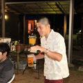 サーファーの乾杯は「テイクオフ!」と協会副会長の拓からの提案でみんなでテイクオフ!