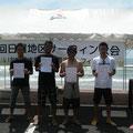 シニアクラスファイナリスト!右から一位ヨシミ君、2位中田さん、3位トシ君、4位ノブ