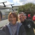 南の圭子さん、西のかっちゃん 大御所お二人とパチリ!今回もお世話になりました。