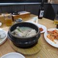 体に優しい味の参鶏湯。マシソヨ~~