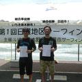 総合優勝は(右)日置市!準優勝はいちき串木野(左)でした!