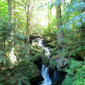Wasserfall am Wanderweg um den Rannastausee
