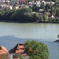 Passau Blick von Veste Oberhaus