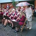 im Regen zum Musikschulfest in Stollberg