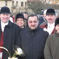 Gruppenbild mit dem Ehrenjagdherrn dem  Botschafter der Republik Kasachstan