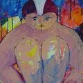 Kalt, nass, traurig - Acryl auf Leinwand  70 x 50cm