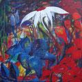 Mein wollüstiger Garten • Verlangen Acryl auf Leinwand • 140x140cm