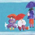 Sommerregen Acryl auf Spanplatte • 30x40 cm