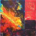col tec - Explosion • 20 x 20 cm • Acryl auf Leinwand