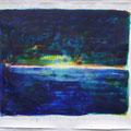 Sonnenuntergang Acryl auf Bütten • 135x154cm
