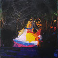 col tec-Nachtfahrt Acryl auf Leinwand • 15x15cm