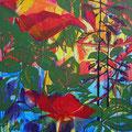 Mein wollüstiger Garten • Mohnblume Acryl auf Leinwand • 100x100cm