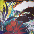 Mein wollüstiger Gärten • vergangen  Acryl auf Leinwand • 70 x 100cm