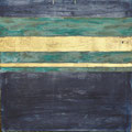 Öl, Patina, 22 Karat Blattgold auf Leinwand, 80 x 80 cm