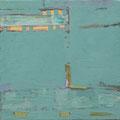 Öl, 22 Karat Blattgold auf Leinwand, 40 x 40 cm