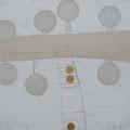 Öl, Grafit, 22 Karat Blattgold auf Leinwand, 40 x 40 cm
