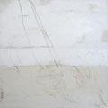 Öl, Grafit auf Leinwand, 40 x 40 cm (Spuren vom Grund der Oder)