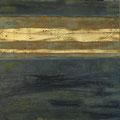 Öl, 22 Karat Blattgold, Grafit auf Leinwand, 80 x 80 cm