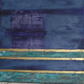 Öl, Acyrl, Patina, 22 Karat Blattgold auf Leinwand, 80 x 80 cm
