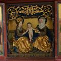 3. Predella des Flügelaltars, im Mittelteil Anna selbdritt: Maria mit dem Jesuskind und ihre Mutter, die heilige Anna, 2019 (Foto: Gerhard Jahreis)