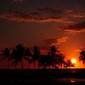 ハワイ島の夕暮れ(2010.09)
