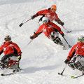 チェアスキーでフォーメーション滑走!(2009.03)