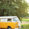 van volkswagen mariage hippie champêtre bohème france