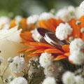 Bouquet alliances mariage champêtre hippie bohème