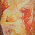 """""""Ah-Si je pouvais danser avec Pina!"""", Collection privé, 146x89cm, Acrylique sur toile, de Grethe Knudsen, Paris, 2002. Serie : Tanztheater Wuppertal - Pina Bausch, impressions du """"Tanzfest 2001"""""""