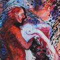 « Tsunami », Acrylique sur toile, de Grethe Knudsen ,146 x 89cm, 2005