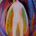 « L'Enfant de l'Intérieur », Acrylique sur toile, de Grethe Knudsen ,146 x 89cm, 2011