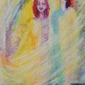« Vers la Lumière », Acrylique sur toile, de Grethe Knudsen ,146 x 89cm, 2007
