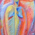 « Femme-Poisson », Acrylique sur toile, de Grethe Knudsen ,146 x 89cm, 2006