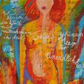 « La Vague», Acrylique sur toile, de Grethe Knudsen ,146 x 89cm, 2000