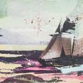 funkloch4, 2013, Décalcage on MDF, 110 cm x 168 cm  >original available
