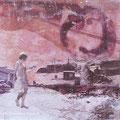 glühe meines herzens Wunsch, 2005, Décalcage on wood, 80 cm x 113,5 cm